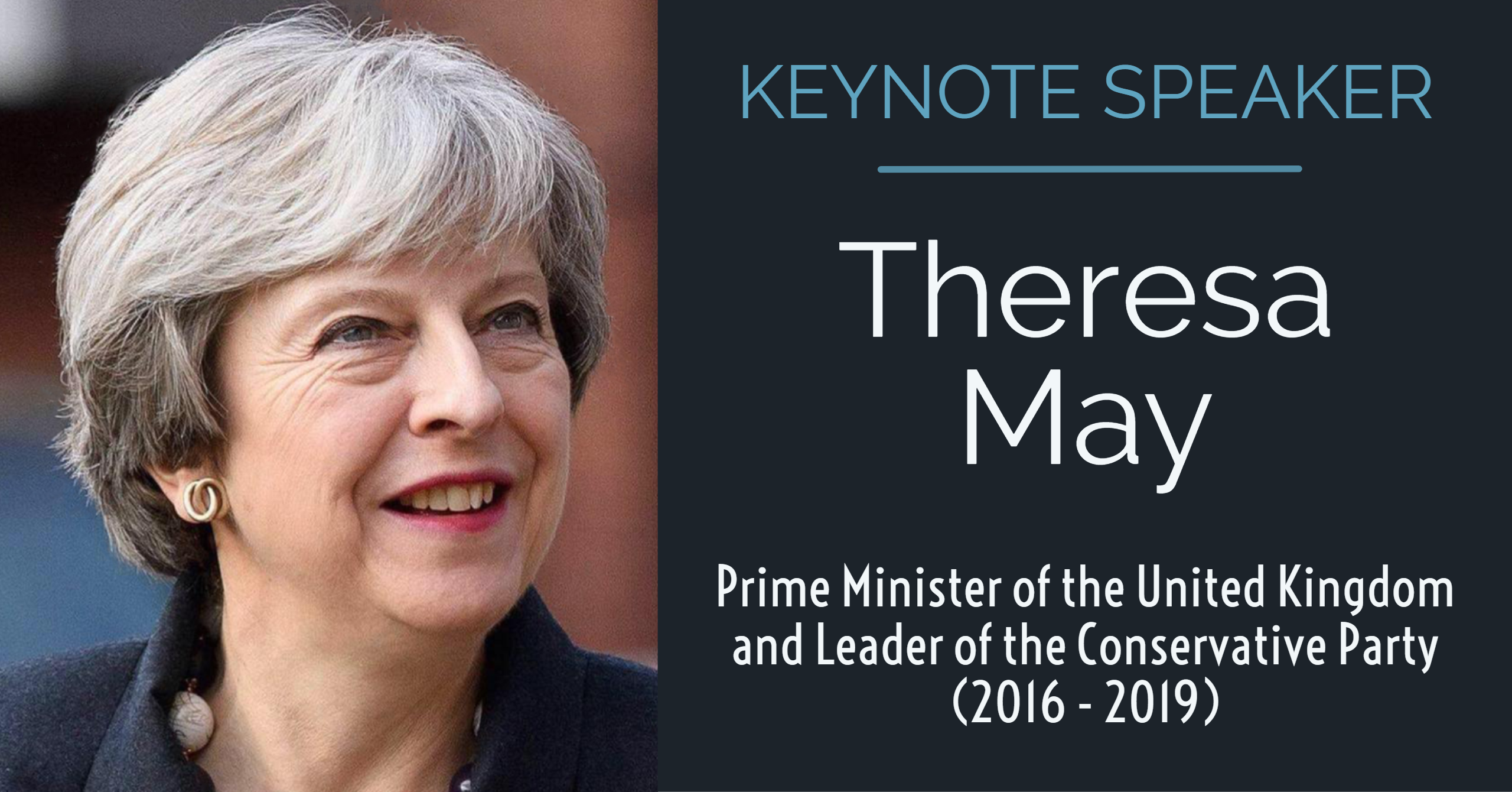 Keynote Speaker Theresa May